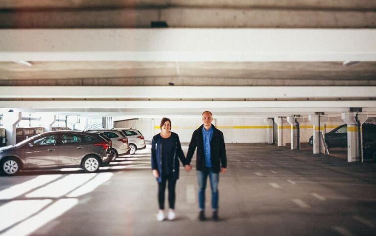 Parfotografering i Karlskrona parkeringshus