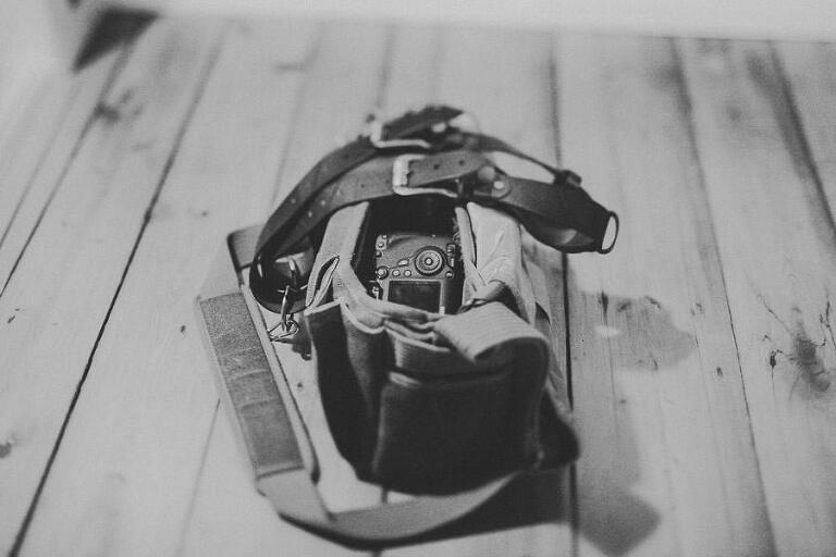 Kamera och kameraväska