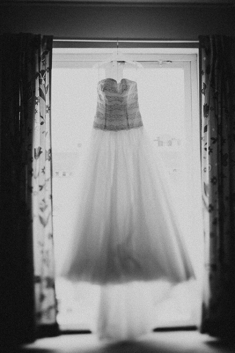 brudens bröllopsklänning