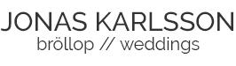 Bröllopsfotograf Jonas Karlsson, Kalmar, Skåne, Öland, Växjö logo